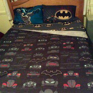 Batman Full Size Sheet Set  1Flat 1 Fitted 2 Cases